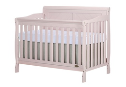 Blush Pink - Ashton Full Panel 5 in 1 Convertible Crib Side Silo