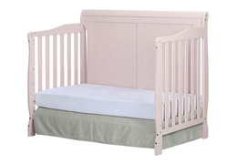 Blush Pink - Ashton Full Panel Day Bed Side Silo
