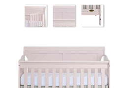 Blush Pink - Ashton Full Panel 5 in 1 Convertible Crib Details