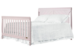 Blush Pink - Ashton Full Panel Full Bed with HeadFoot Side Silo