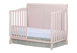 Blush Pink - Ashton Full Panel Toddler Bed Side Silo