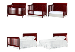 Cherry - Ashton Full Panel 5 in 1 Convertible Crib Collage