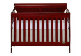 Cherry - Ashton Full Panel 5 in 1 Convertible Crib Front Silo