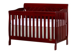 Cherry - Ashton Full Panel 5 in 1 Convertible Crib Side Silo