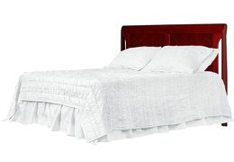 Cherry - Ashton Full Panel Full Bed with HeadBoard Silo