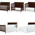 Espresso - Ashton Full Panel 5 in 1 Convertible Crib Collage