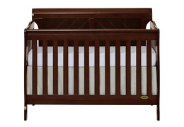 Espresso - Ashton Full Panel 5 in 1 Convertible Crib Front Silo