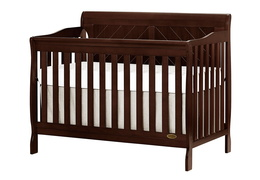 Espresso - Ashton Full Panel 5 in 1 Convertible Crib Side Silo