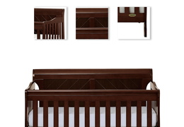 Espresso - Ashton Full Panel 5 in 1 Convertible Crib Details