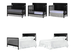 Black - Cape Cod 5 in 1 Convertible Crib Collage