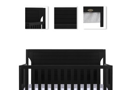 Black - Cape Cod 5 in 1 Convertible Crib Details