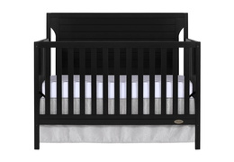 Black - Cape Cod 5 in 1 Convertible Crib Silo Front