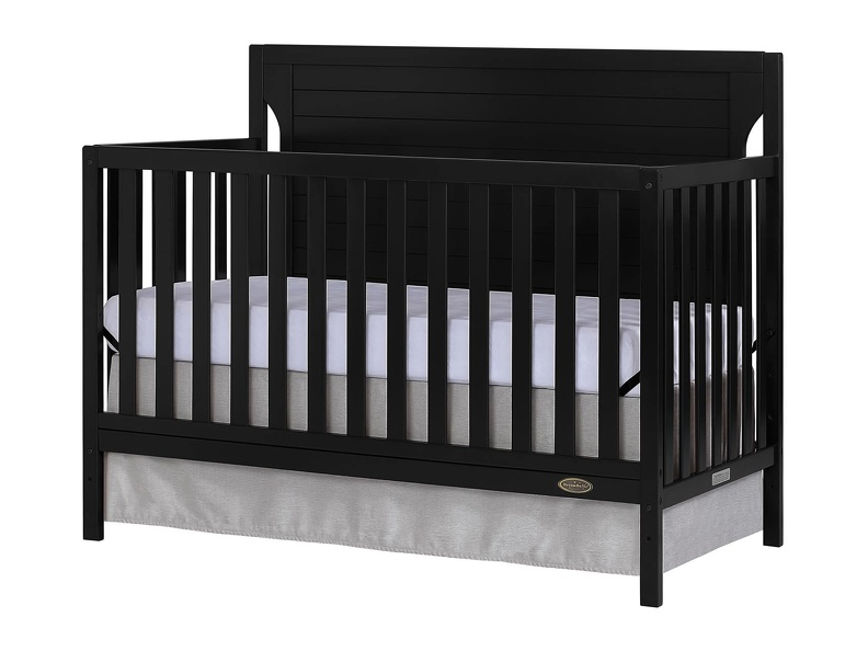 Black - Cape Cod 5 in 1 Convertible Crib Silo Side