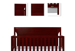 Cherry - Cape Cod 5 in 1 Convertible Crib Details