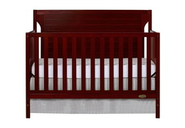 Cherry - Cape Cod 5 in 1 Convertible Crib Silo Front