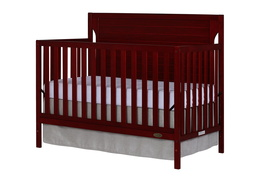 Cherry - Cape Cod 5 in 1 Convertible Crib Silo Side