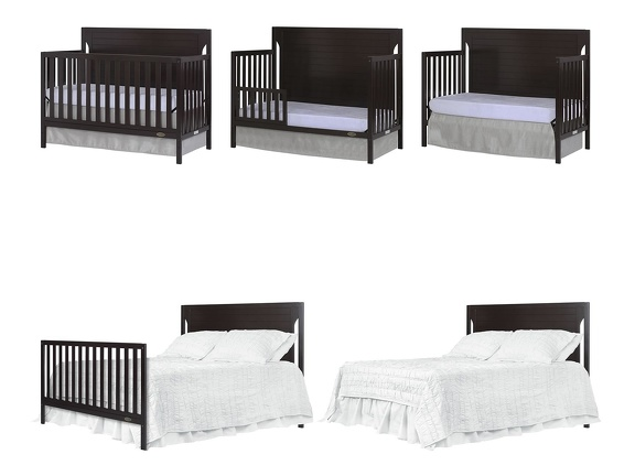 Dark Espresso - Cape Cod 5 in 1 Convertible Crib Collage
