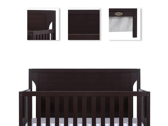 Dark Espresso - Cape Cod 5 in 1 Convertible Crib Details