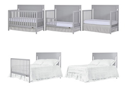 Pebble Grey - Cape Cod 5 in 1 Convertible Crib Collage