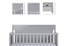 Pebble Grey - Cape Cod 5 in 1 Convertible Crib Details