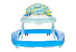 Blue 2 in 1 Crossover Musical Walker and Rocker Front