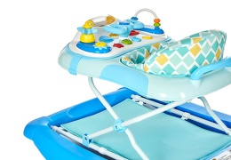 Blue 2 in 1 Crossover Musical Walker and Rocker
