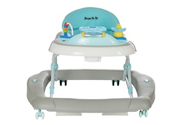 Grey 2 in 1 Crossover Musical Walker and Rocker Front
