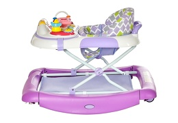 Purple 2 in 1 Crossover Musical Walker and Rocker