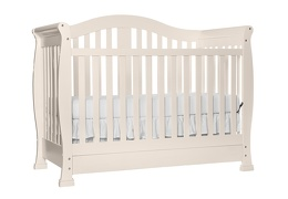 French White Addison 5 in 1 Convertible Crib Silo Side