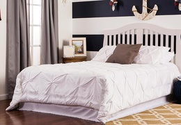 French White Addison Full Bed RoomShot