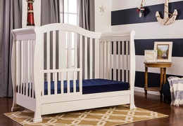 French White Addison Toddler Bed
