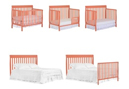 Fusion Coral Alissa 5 in 1 Convertible Crib Collage