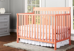 Fusion Coral Alissa 5 in 1 Convertible Crib RS