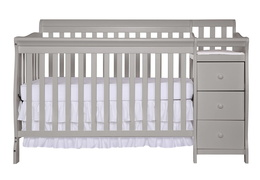 Pebble Grey Brody 5 in 1 Convertible Crib Silo Front