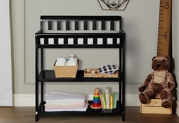 Black 2-in-1 Ashton Changing table RS