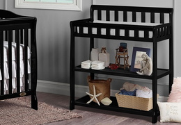 Black 2-in-1 Ashton Changing table RS2
