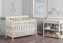 French White 2-in-1 Ashton Changing table S2