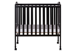 Black 2 in 1 Lightweight Folding Portable Crib Silo Front