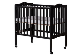 Black 2 in 1 Lightweight Folding Portable Crib Silo