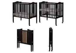 Black 2 in 1 Lightweight Folding Portable Crib Collage