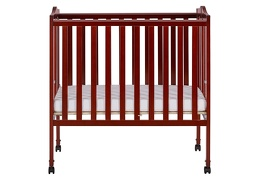 Cherry 2 in 1 Lightweight Folding Portable Crib Silo Front