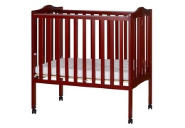 Cherry 2 in 1 Lightweight Folding Portable Crib Silo Side