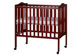 Cherry 2 in 1 Lightweight Folding Portable Crib Silo