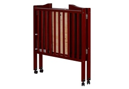 Cherry 2 in 1 Lightweight Folding Portable Crib Silo Fold 1