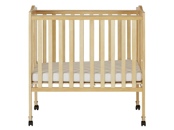 Natural 2 in 1 Lightweight Folding Portable Crib Silo Front