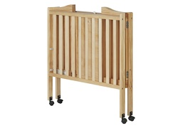Natural 2 in 1 Lightweight Folding Portable Crib Silo Fold 1