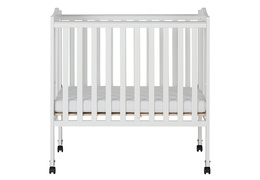 White 2 in 1 Lightweight Folding Portable Crib Silo Front