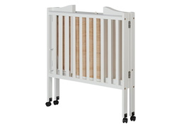 White 2 in 1 Lightweight Folding Portable Crib Silo Fold 1
