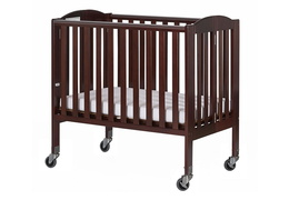 Espresso 2 in 1 Folding, Birch Portable Crib Silo