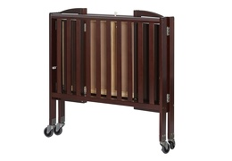 Espresso 2 in 1 Folding, Birch Portable Crib Silo Fold